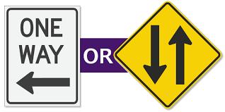 1 way 2 way